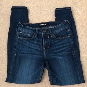 Express Jeans Mid Rise stretch legging 0 short